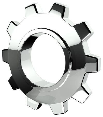 3D Chrome Gear Stock Photo - 6019621