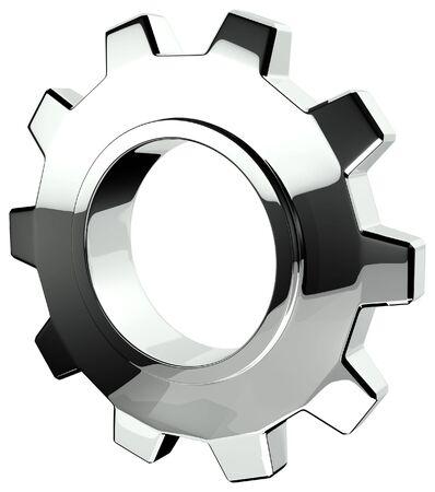 rueda dentada: 3D de Chrome Gear