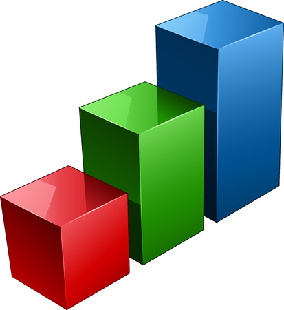 staaf diagram: Staaf diagram Stock Illustratie