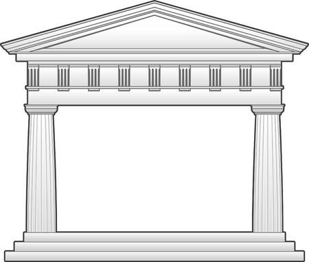 pilastri: Tempio romano