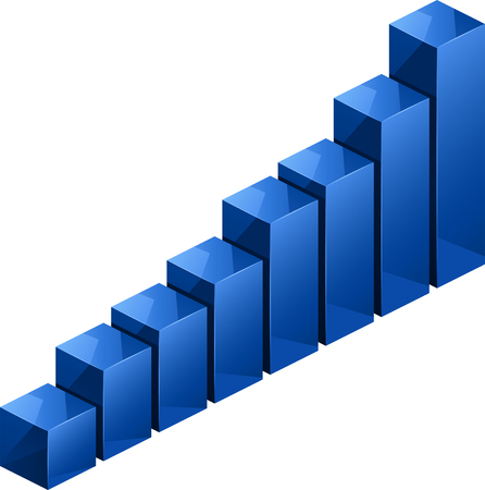 stat: Blue bargraph 3D