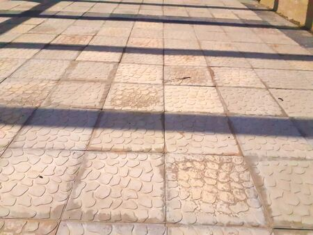 abstract view of tiles on the road floor 写真素材