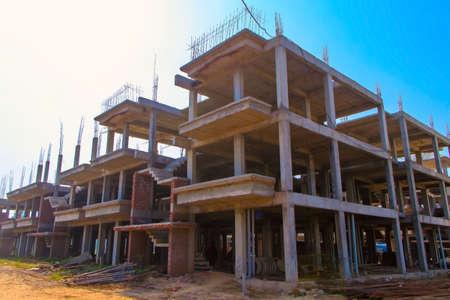 New construction of big building, sonipat, haryana, july 2019