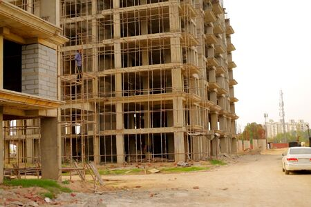 Lucknow, India - June 2017 : new construction of building in Lucknow
