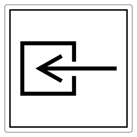 Input Entrance Non-Electrical Symbol Sign, Vector Illustration, Isolate On White Background Label. EPS10