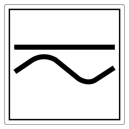 Signo de símbolo de corriente alterna y directa, ilustración vectorial, aislar en etiqueta de fondo blanco. EPS10