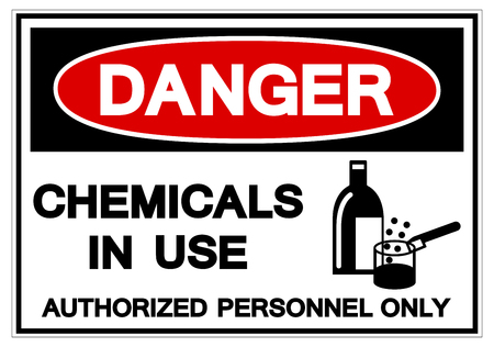 Danger Chemicals In Use Symbol Sign, Vector Illustration, Isolate On White Background Label .EPS10 向量圖像