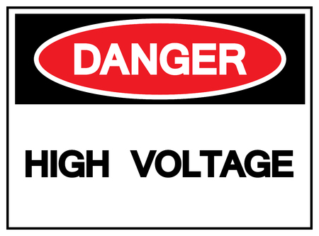 Danger High Voltage Symbol Sign,Vector Illustration, Isolated On White Background Label. EPS10