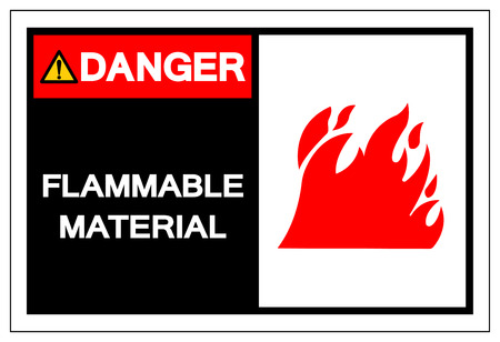 Danger Flammable Material Symbol Sign ,Vector Illustration, Isolate On White Background Label. EPS10