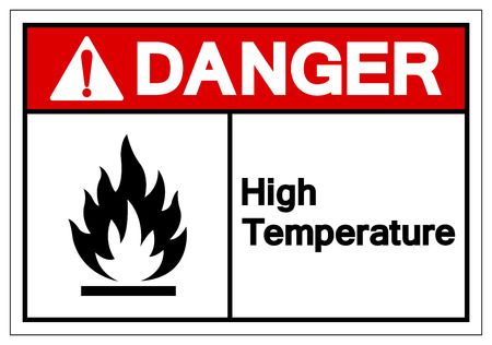 Danger High Temperature Symbol Sign ,Vector Illustration, Isolate On White Background Label .EPS10 Stock Vector - 124143006