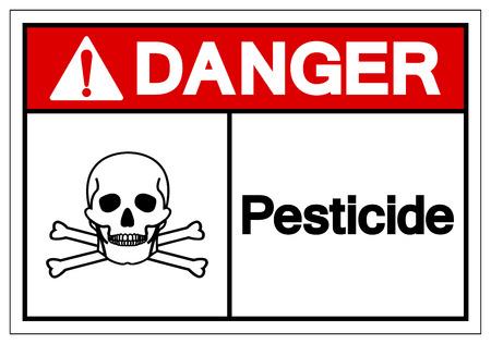 Danger Pesticide Symbol Sign ,Vector Illustration, Isolate On White Background Label .EPS10