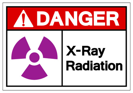 Danger X-Ray Radiation Symbol Sign ,Vector Illustration, Isolate On White Background Label. EPS10