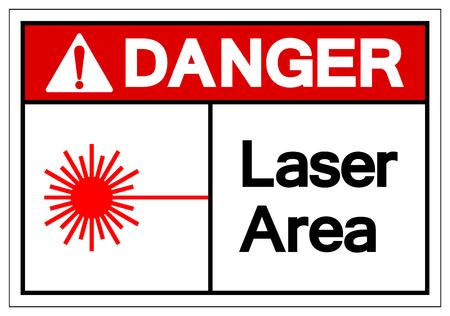 Danger Laser Area Symbol Sign, Vector Illustration, Isolate On White Background Label. EPS10  イラスト・ベクター素材