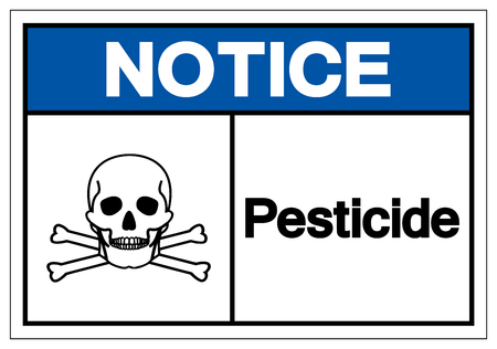 Notice Pesticide Symbol Sign, Vector Illustration, Isolate On White Background Label .EPS10 Vettoriali
