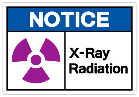 Notice X-Ray Radiation Symbol Sign, Vector Illustration, Isolate On White Background Label .EPS10 Ilustração