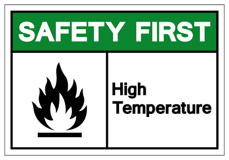 Safety First High Temperature Symbol Sign, Vector Illustration, Isolate On White Background Label .EPS10 Stock Vector - 124143033