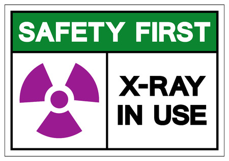 Safety Fisry X-Ray In Use Symbol Sign, Vector Illustration, Isolate On White Background Label .EPS10