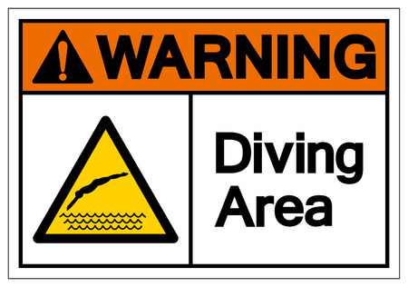 Warning Diving Area Symbol Sign, Vector Illustration, Isolate On White Background Label. EPS10