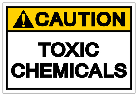 Caution Toxic Chemicals Symbol Sign, Vector Illustration, Isolate On White Background Label. EPS10 向量圖像