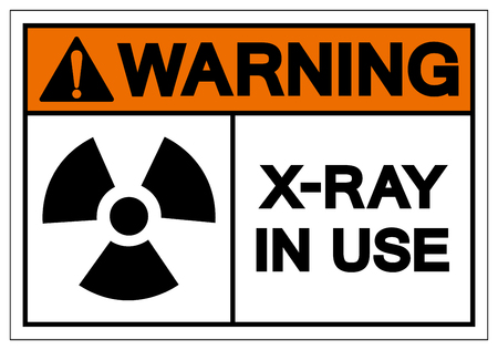 Warning X-Ray In Use Symbol Sign, Vector Illustration, Isolate On White Background Label. EPS10 Illustration