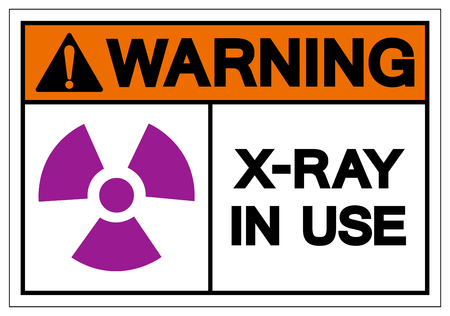 Warning X-Ray In Use Symbol Sign ,Vector Illustration, Isolate On White Background Label. EPS10