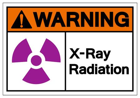 Warning X-Ray Radiation Symbol Sign ,Vector Illustration, Isolate On White Background Label. EPS10 Ilustração
