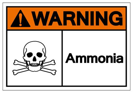 Warning Ammonia Symbol Sign, Vector Illustration, Isolate On White Background Label .EPS10