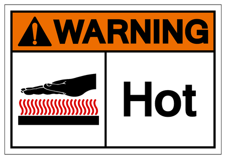Warning Hot Symbol Sign, Vector Illustration, Isolate On White Background Label .EPS10 Stock Illustratie