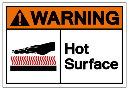 Warning Hot Surface Symbol Sign, Vector Illustration, Isolate On White Background Label .EPS10