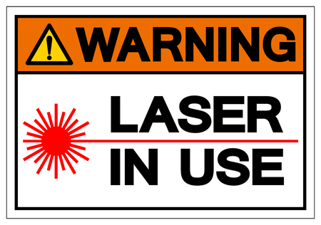 Warning Laser In Use Symbol Sign, Vector Illustration, Isolate On White Background Label .EPS10