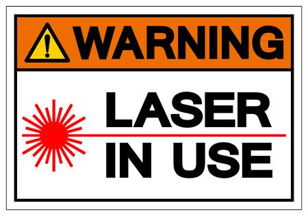 Warning Laser In Use Symbol Sign, Vector Illustration, Isolate On White Background Label .EPS10