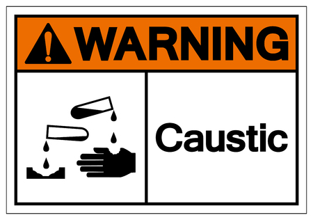 Warning Caustic Symbol Sign, Vector Illustration, Isolate On White Background Label .EPS10 向量圖像