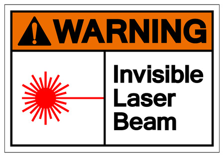 Warning Invisible Laser Beam Symbol Sign, Vector Illustration, Isolate On White Background Label .EPS10 Illustration