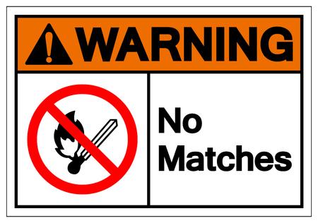 Warning No Matches Symbol Sign, Vector Illustration, Isolate On White Background Label. EPS10