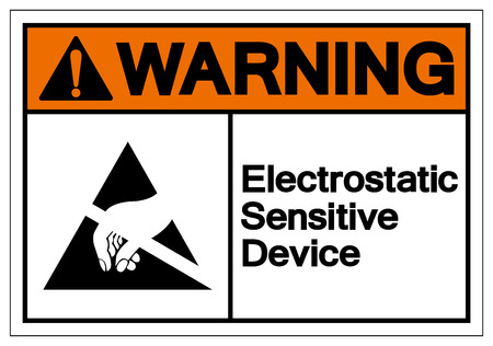 Warning Electrostatic Sensitive Device (ESD) Symbol Sign, Vector Illustration, Isolate On White Background Label. EPS10