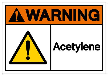 Warning Acetylene Symbol Sign, Vector Illustration, Isolate On White Background Label. EPS10 Illustration