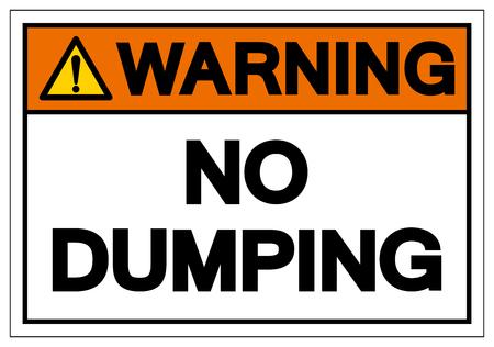 Warning Dumping Symbol Sign, Vector Illustration, Isolate On White Background Label. EPS10