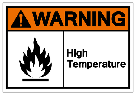 Warning High Temperature Symbol Sign ,Vector Illustration, Isolate On White Background Label .EPS10