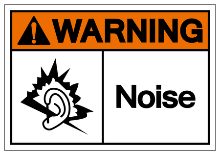 Warning Noise Symbol Sign, Vector Illustration, Isolate On White Background Label. EPS10 Illustration