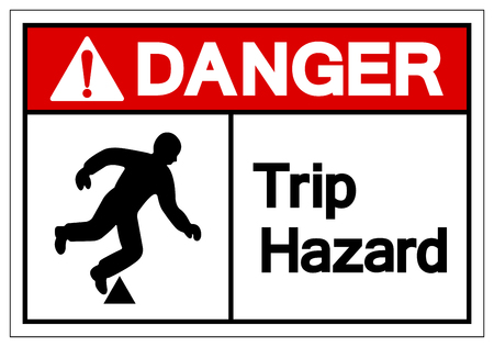 Danger Trip Hazard Symbol Sign, Vector Illustration, Isolate On White Background Label. EPS10 Stok Fotoğraf - 124046817