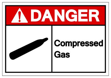 Danger Compressed Gas Symbol Sign, Vector Illustration, Isolate On White Background Label. EPS10