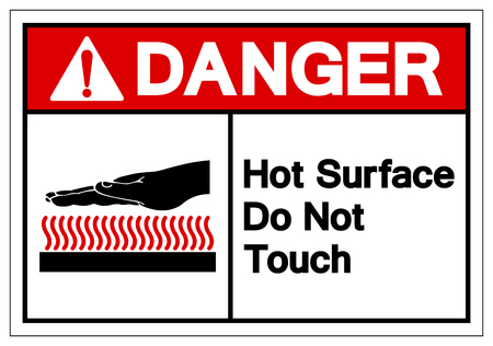 Danger Hot Surface Do Not Touch Symbol Sign, Vector Illustration, Isolate On White Background Label .EPS10