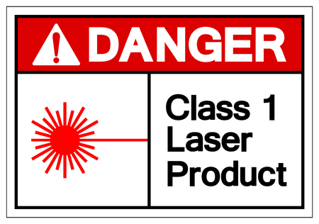 Danger Class 1 Laser Product Symbol Sign, Vector Illustration, Isolate On White Background Label. EPS10