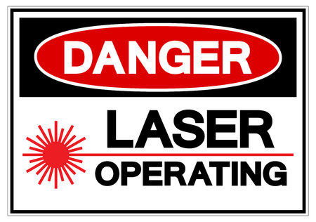 Danger Laser Operating Symbol Sign, Vector Illustration, Isolate On White Background Label. EPS10