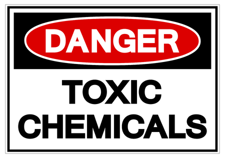 Danger Toxic Chemicals Symbol Sign, Vector Illustration, Isolate On White Background Label. EPS10