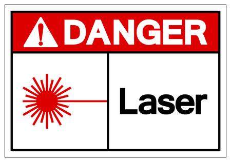 Danger Laser Symbol Sign ,Vector Illustration, Isolate On White Background Label. EPS10  イラスト・ベクター素材