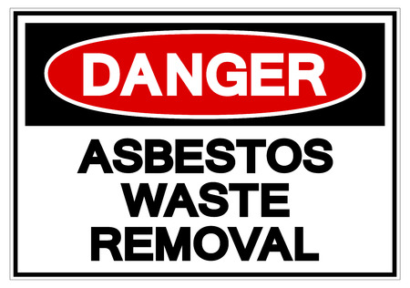 Danger Asbestors Waste Removal Symbol Sign, Vector Illustration, Isolate On White Background Label. EPS10 Vector Illustration