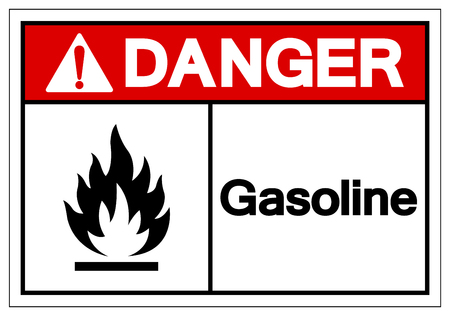 Danger Gasoline Symbol Sign, Vector Illustration, Isolate On White Background Label .EPS10 Иллюстрация