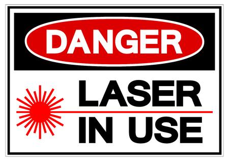 Danger Laser In Use Symbol Sign, Vector Illustration, Isolate On White Background Label .EPS10