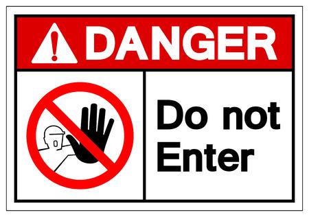 Danger Do not enter Symbol Sign, Vector Illustration, Isolate On White Background Label. EPS10 벡터 (일러스트)